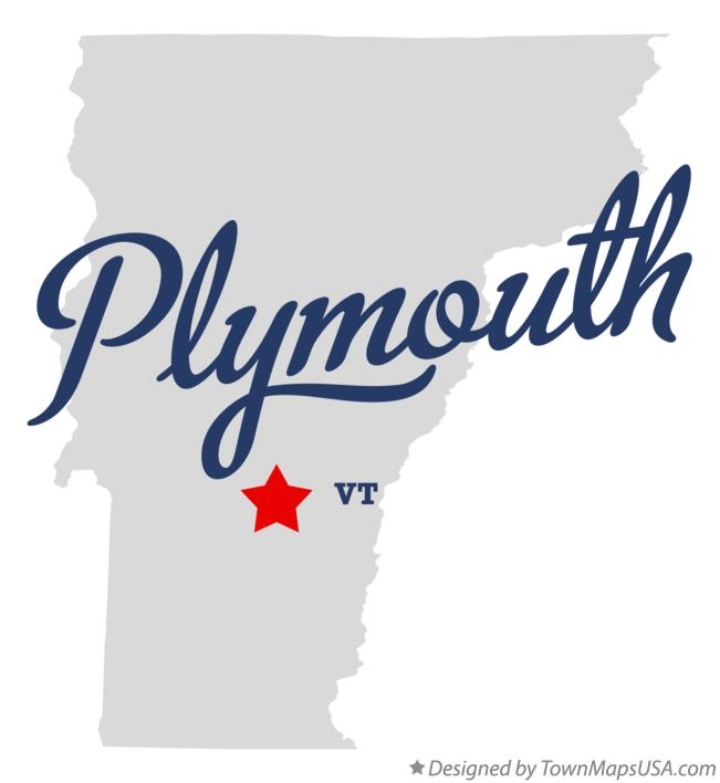 Map of Plymouth Vermont VT