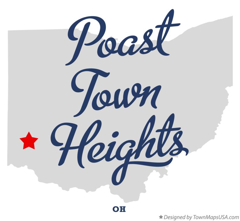 Map of Poast Town Heights Ohio OH