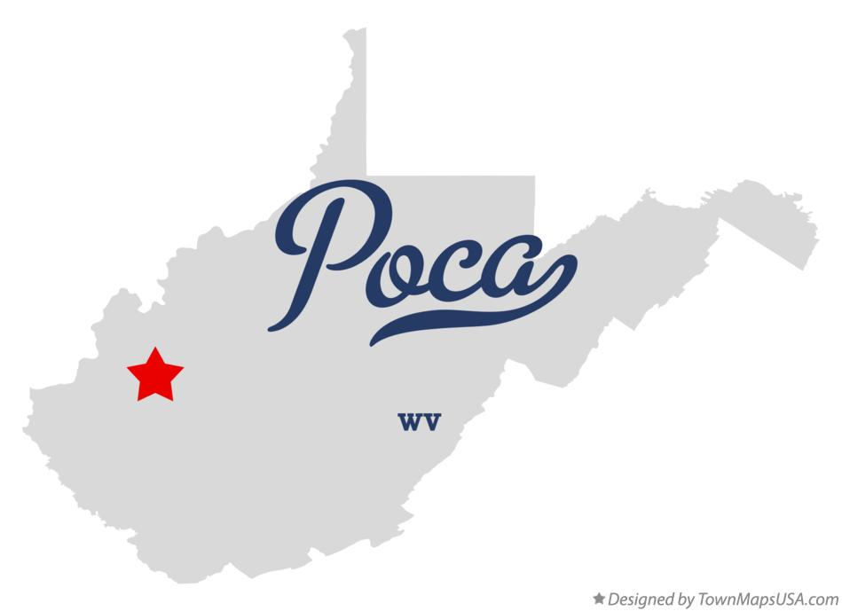Map of Poca West Virginia WV