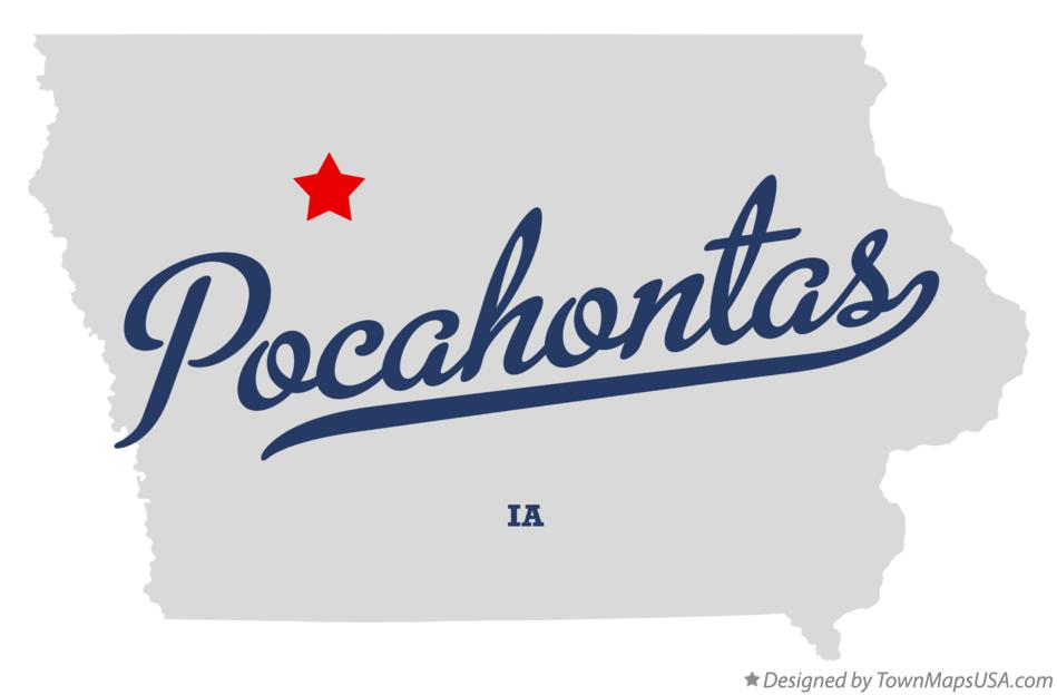 Map of Pocahontas Iowa IA
