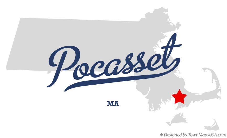 Map of Pocasset Massachusetts MA