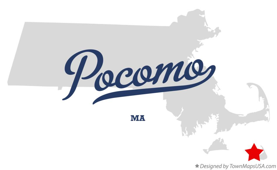Map of Pocomo Massachusetts MA