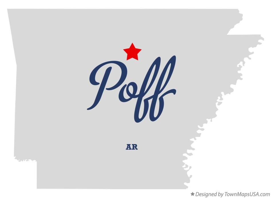 Map of Poff Arkansas AR