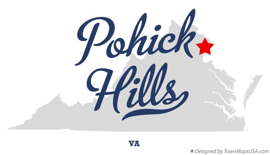 Map of Pohick Hills Virginia VA