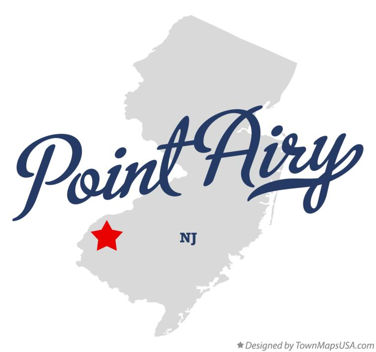 Map of Point Airy New Jersey NJ