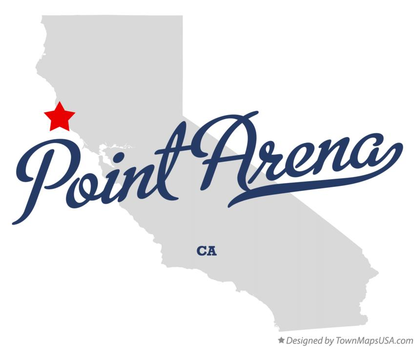 Map of Point Arena California CA