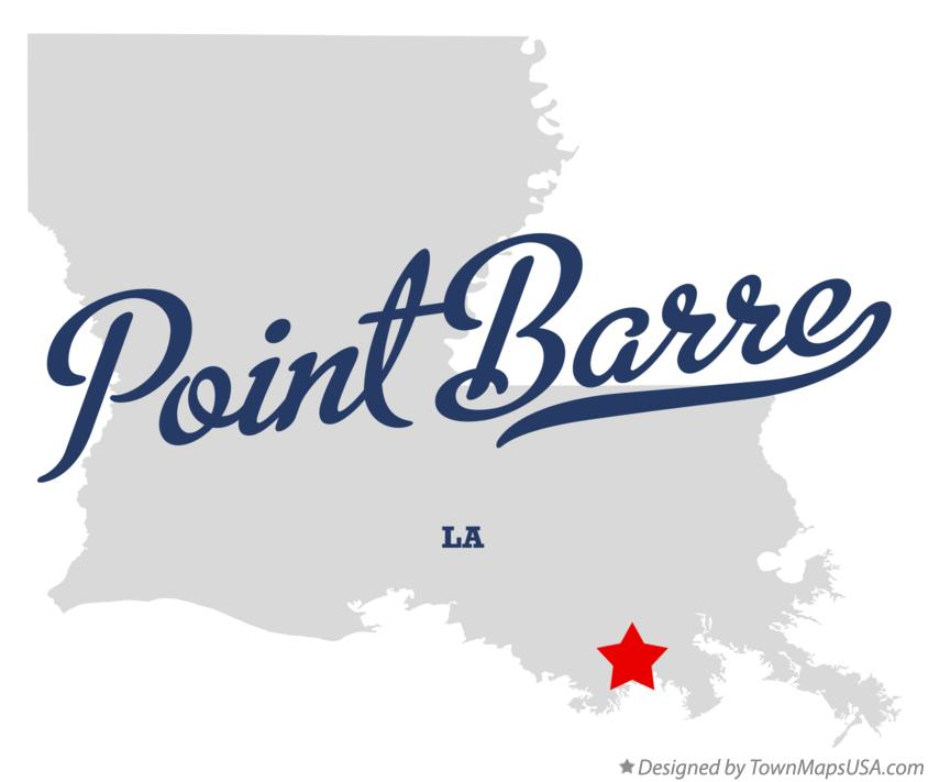 Map of Point Barre Louisiana LA