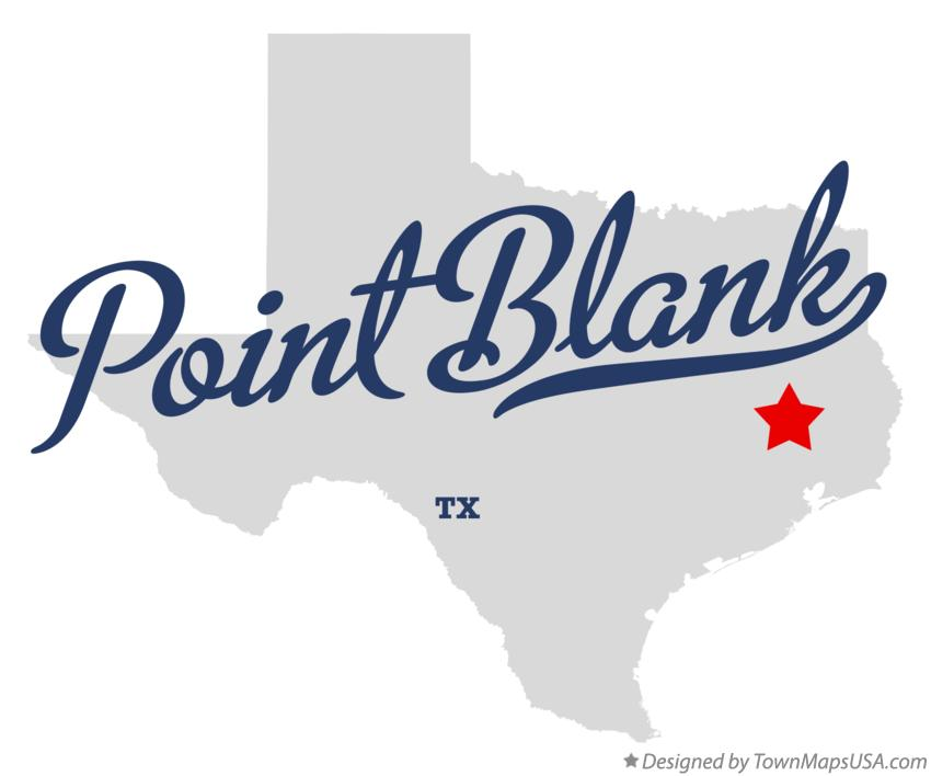Map of Point Blank Texas TX