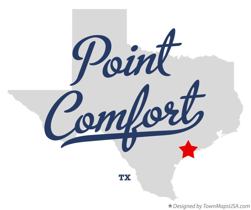 Map of Point Comfort Texas TX