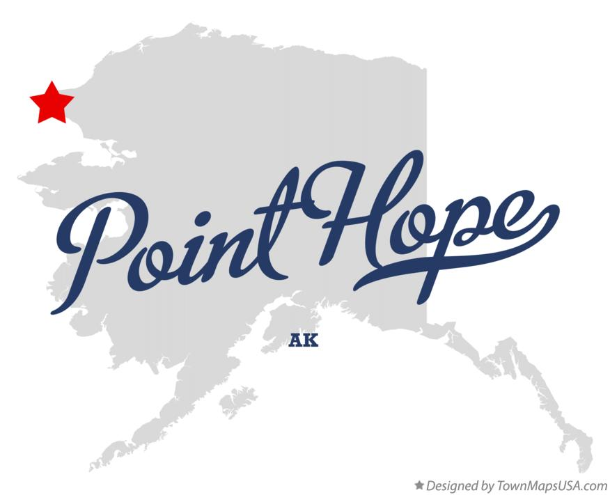 Map of Point Hope Alaska AK
