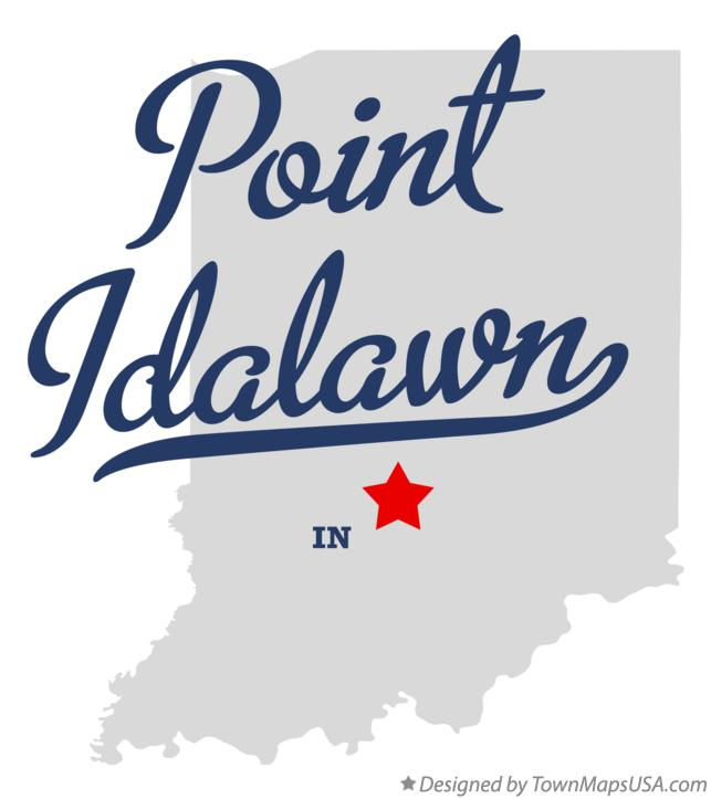 Map of Point Idalawn Indiana IN