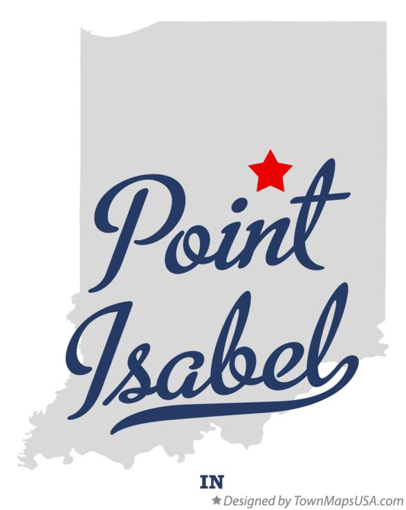 Map of Point Isabel Indiana IN