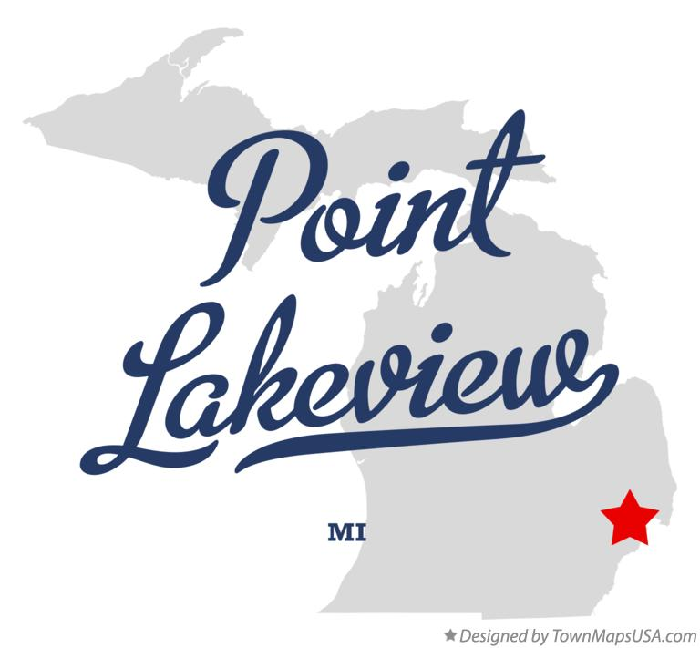 Map of Point Lakeview Michigan MI