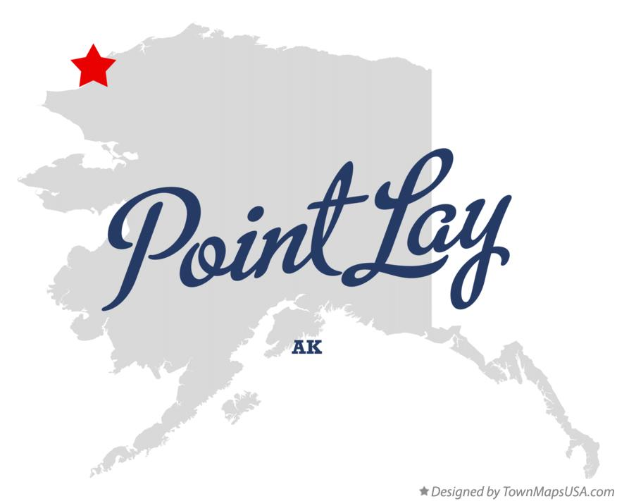 Map of Point Lay Alaska AK