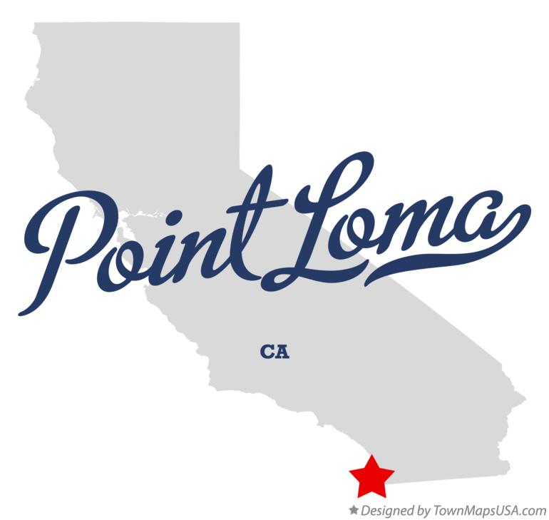 Map of Point Loma California CA