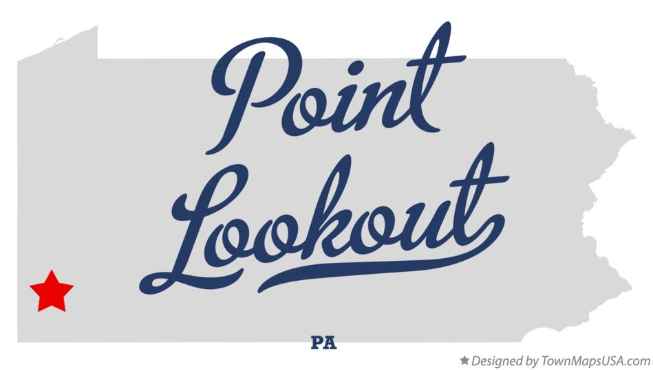 Map of Point Lookout Pennsylvania PA