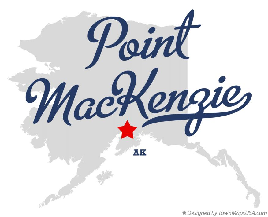 Map of Point MacKenzie Alaska AK