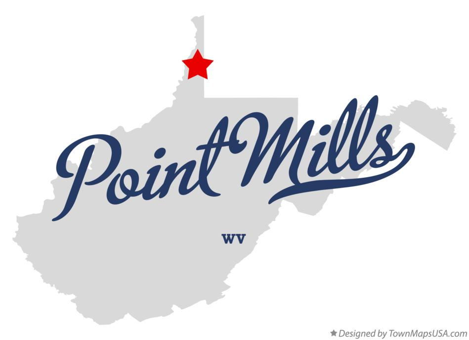 Map of Point Mills West Virginia WV