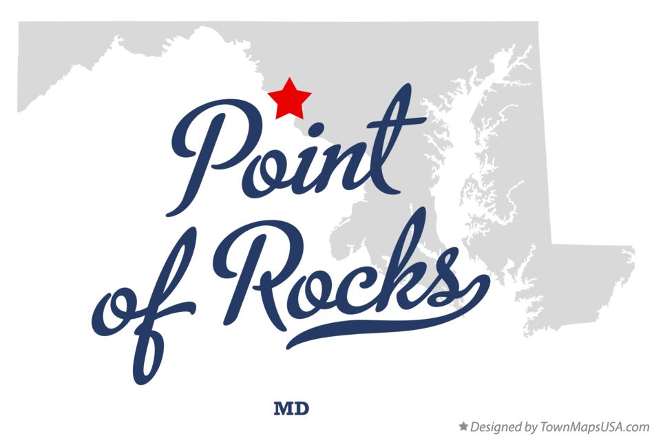 Map of Point of Rocks Maryland MD