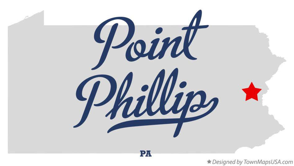 Map of Point Phillip Pennsylvania PA