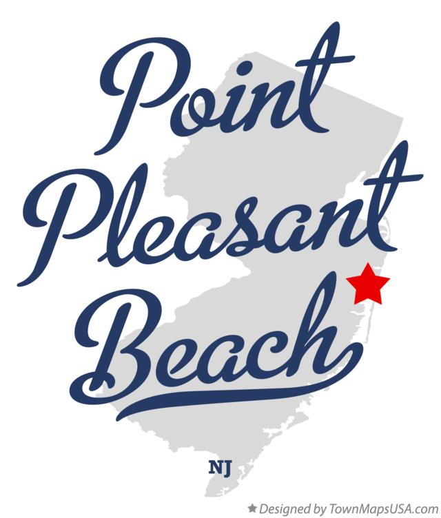 Map of Point Pleasant Beach New Jersey NJ