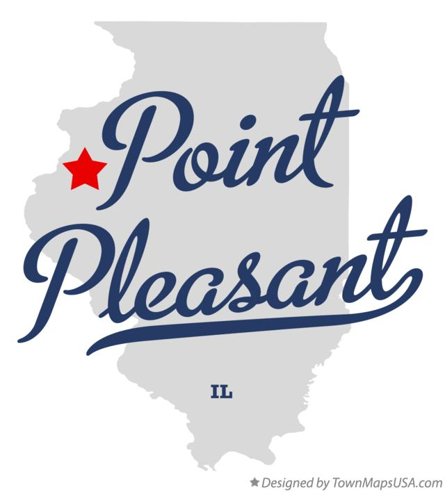 Map of Point Pleasant Illinois IL