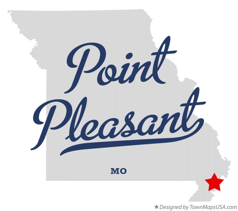 Map of Point Pleasant Missouri MO