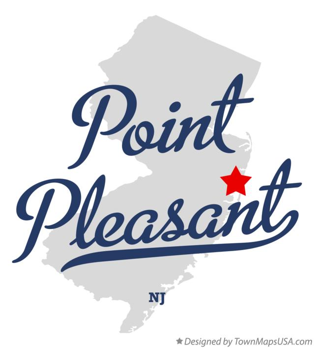 Map of Point Pleasant New Jersey NJ