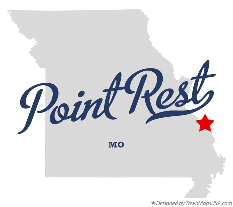 Map of Point Rest Missouri MO