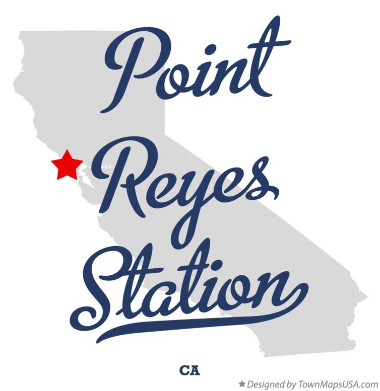 Map of Point Reyes Station California CA