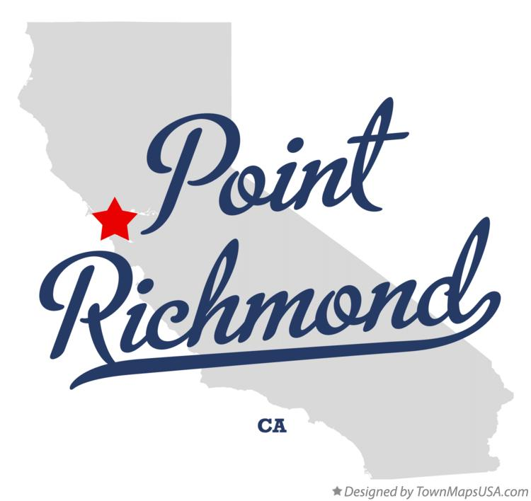 Map of Point Richmond California CA