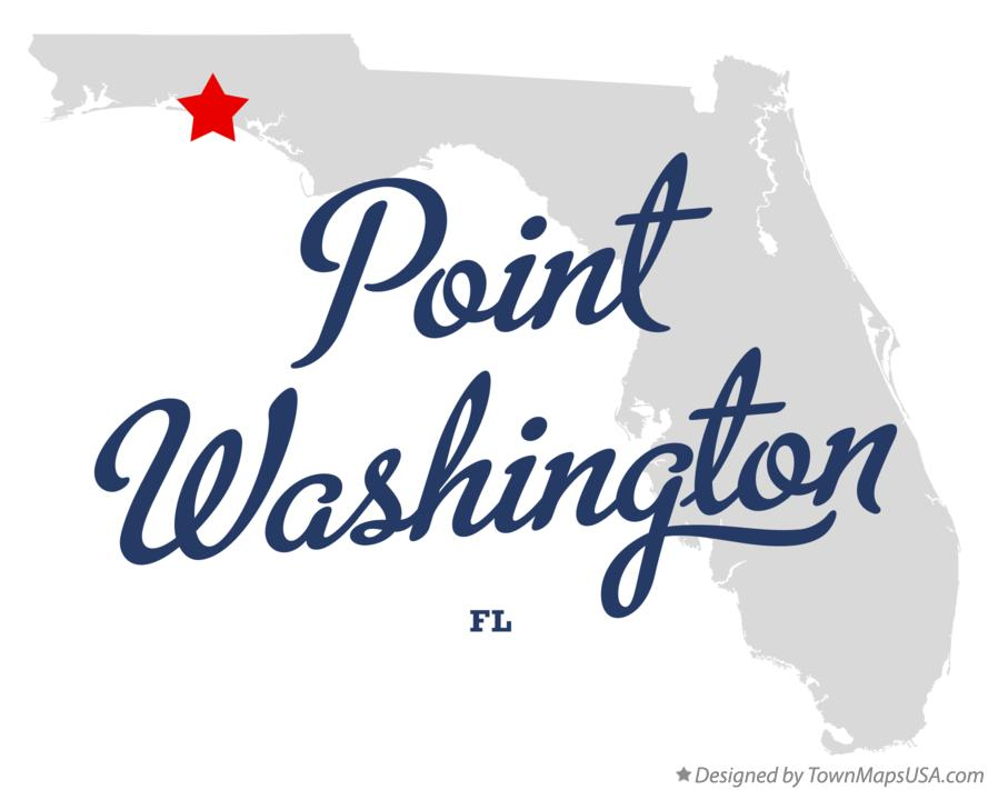 Map of Point Washington Florida FL