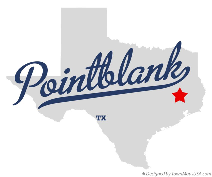 Map of Pointblank Texas TX
