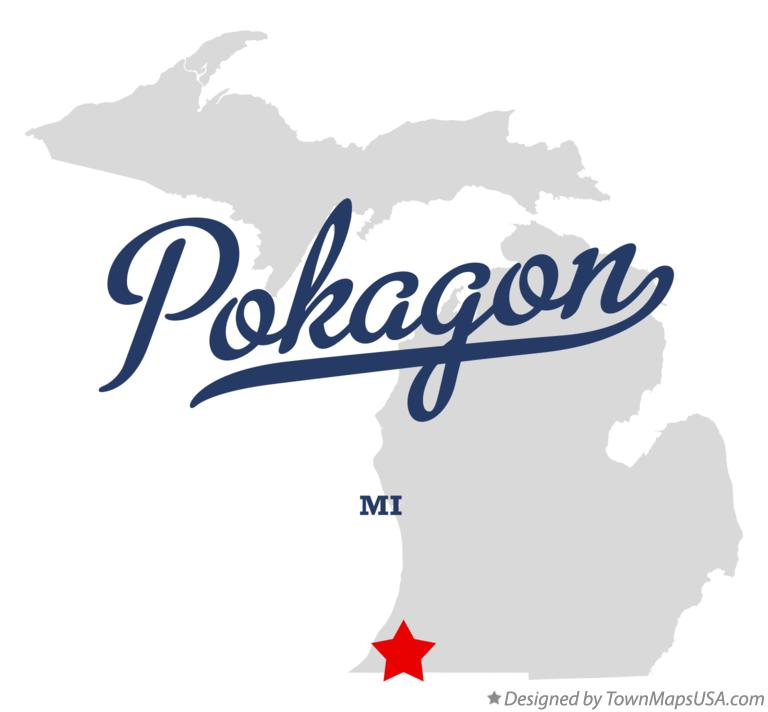 Map of Pokagon Michigan MI