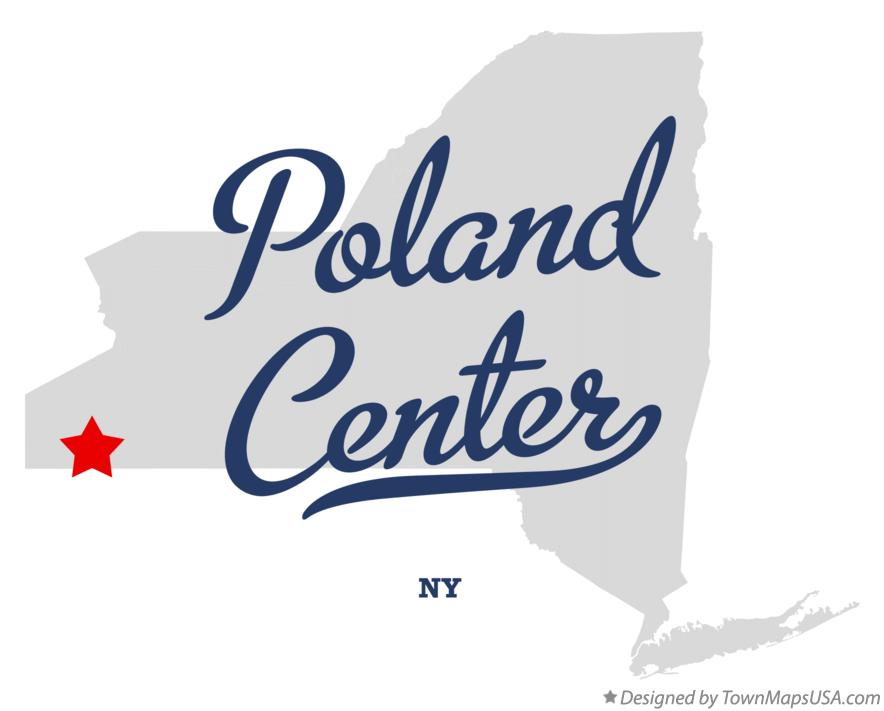 Map of Poland Center New York NY