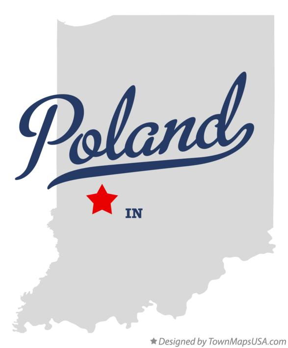 Map of Poland Indiana IN