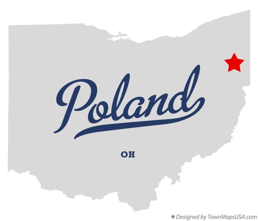 Map Of Poland Oh Ohio