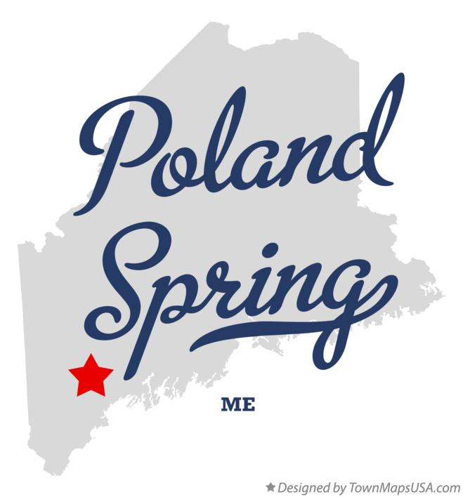 Map of Poland Spring Maine ME