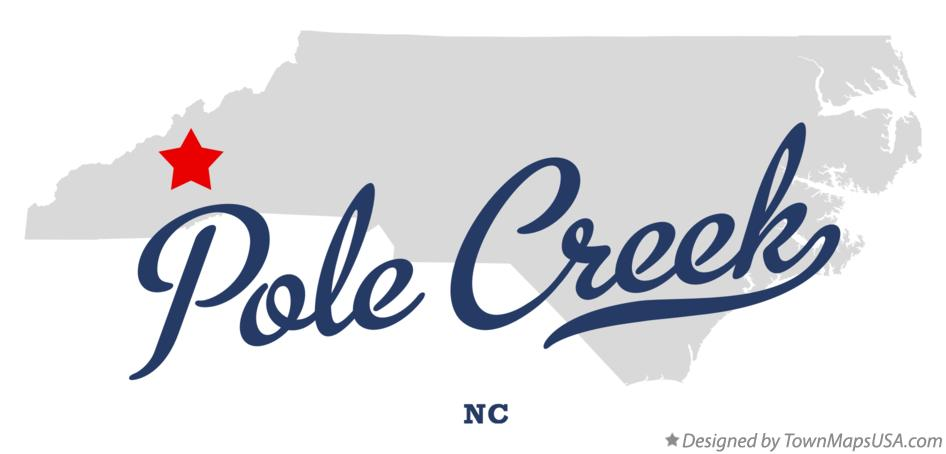 Map of Pole Creek North Carolina NC