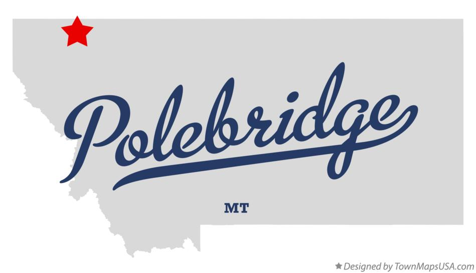 Map of Polebridge Montana MT