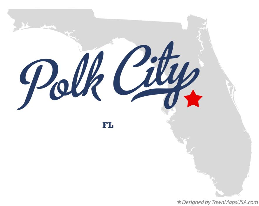 Map of Polk City Florida FL