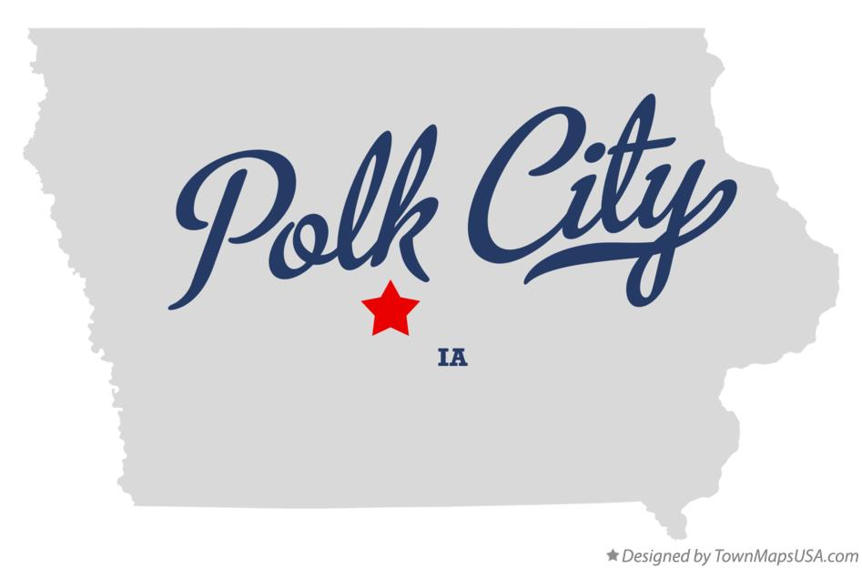 Map of Polk City Iowa IA