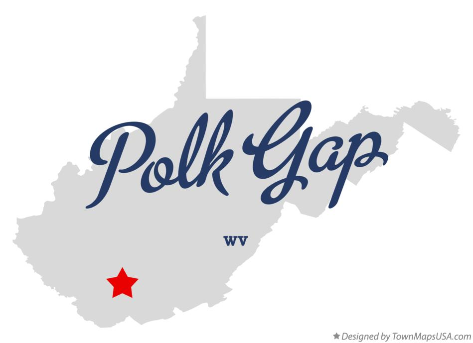 Map of Polk Gap West Virginia WV