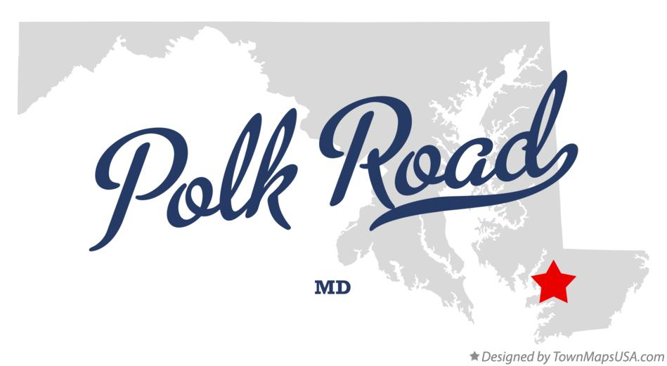 Map of Polk Road Maryland MD