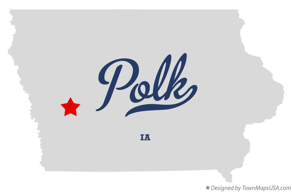 Map of Polk Iowa IA