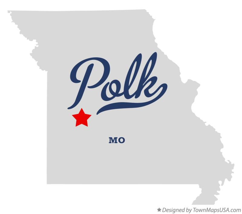 Map of Polk Missouri MO