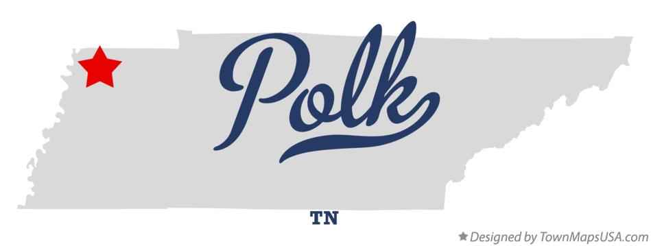 Map of Polk Tennessee TN