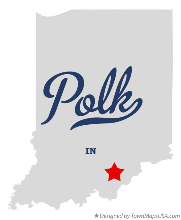 Map of Polk Indiana IN