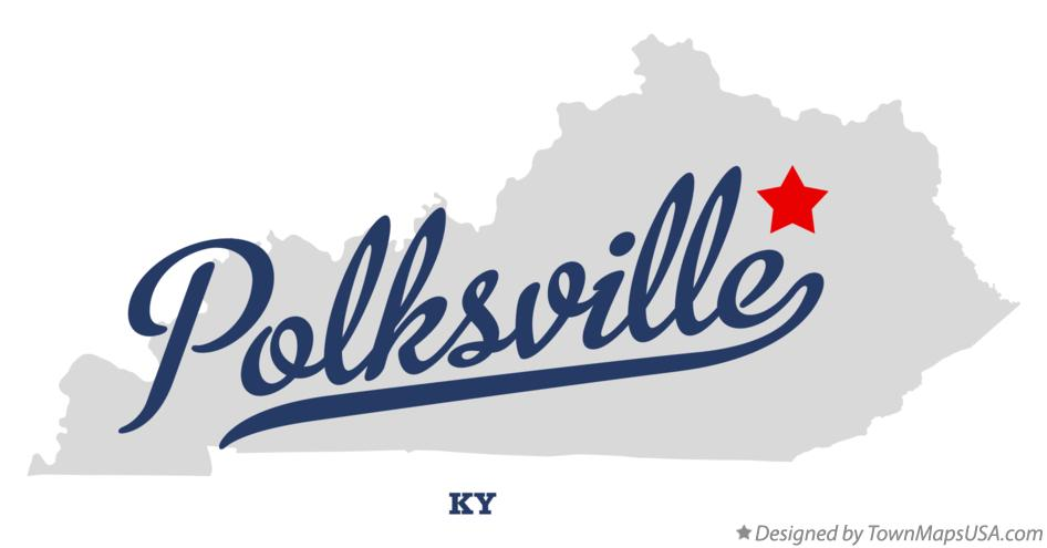 Map of Polksville Kentucky KY
