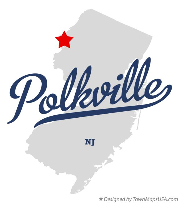 Map of Polkville New Jersey NJ